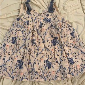 Baby gap pink floral dress